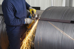 Welding sparks Royalty Free Stock Images