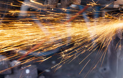 Welding sparks closeup Stock Images