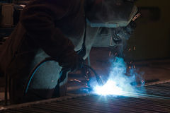 Welding Steel Royalty Free Stock Image
