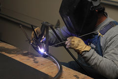 Welding steel Royalty Free Stock Photo