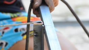 Welding steel. stock footage