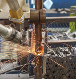 Welding steel Royalty Free Stock Images