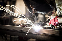 Welding steel royalty free stock photo
