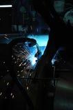 Welding the steel part Stock Images