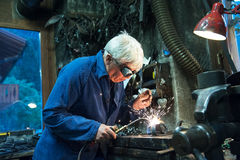 Welding steel sparks Royalty Free Stock Photo