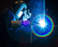 Welding steel structure Royalty Free Stock Photography