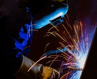 Welding steel structure. In factory Stock Images