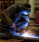 Welding steel structure Stock Image