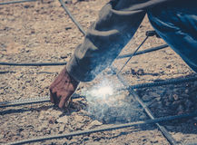 Welding steel structure ,vintage Royalty Free Stock Photo