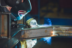 Welding steel structures Stock Photos