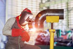 Welding steel Royalty Free Stock Image