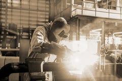 Welding steel Royalty Free Stock Photography