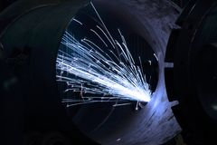 Welding of a tank Stock Photography