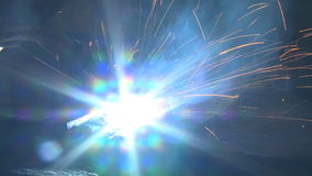 Welding, torch stock video footage