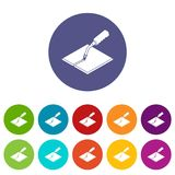 Welding torch icons set vector color. Welding torch icons color set vector for any web design on white background Royalty Free Stock Photography