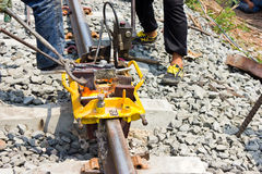 Welding tracks. Stock Photography