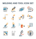 Welding vector icon. Welding work and welding tools vector icon sets Stock Images
