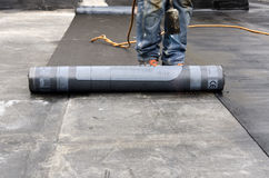 Welding of a waterproof sheath Stock Images