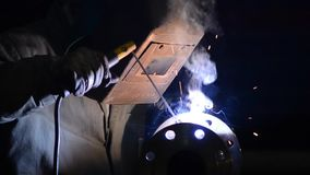 Welding stock footage