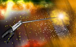 Welding with welding rods Stock Images