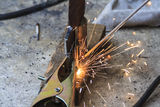 Welding work Stock Images