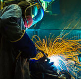Welding work. Royalty Free Stock Images