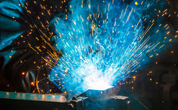 Welding work Stock Image