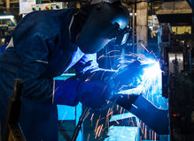 Welding work Royalty Free Stock Photo