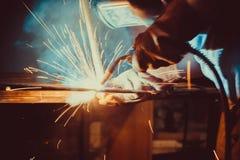 Welding Work. Erecting Technical Steel Stock Image