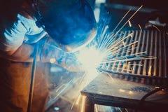 Welding Work. Erecting Technical Steel Industrial Royalty Free Stock Photos