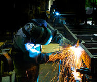 Welding work. Welding work illustrate industrial concept Royalty Free Stock Images