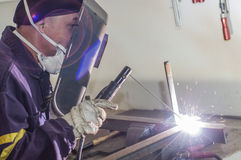 Welding work. Royalty Free Stock Photography
