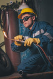 Welding work Royalty Free Stock Photos