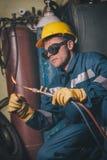 Welding work Stock Images