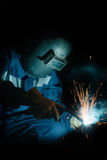Welding work Stock Image