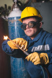 Welding work Royalty Free Stock Photo