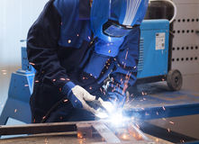 Welding work Stock Photography