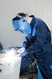 Welding work Stock Photo