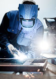 Welding work Royalty Free Stock Images