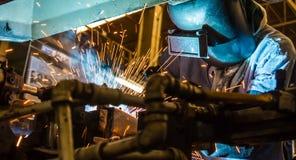 Welding worker Stock Photography