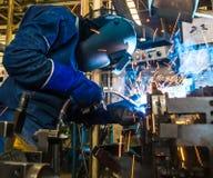 Welding worker Stock Image