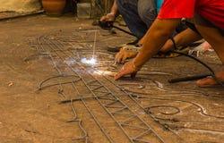 The welding worker Stock Photo