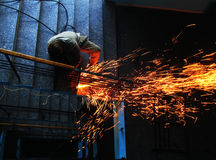 Welding works-2 Royalty Free Stock Photo