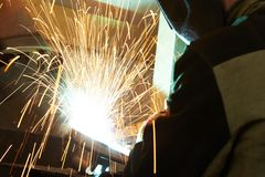 Welding works royalty free stock photos