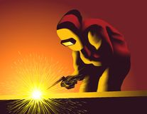 Welding Works Stock Photography