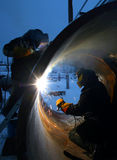 Welding works Royalty Free Stock Photography