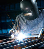 Welding in workshop Stock Photography
