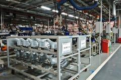 Welding workshop stock image