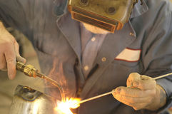 Welding3. Man welding Stock Photos