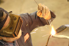 Welding4. Auto body repair welding Royalty Free Stock Photography